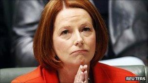 PM Julia Gillard, in parliament on 31 August 2011
