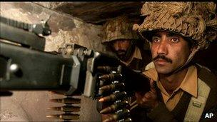 File photo of Pakistani soldier on the LoC in Kashmir
