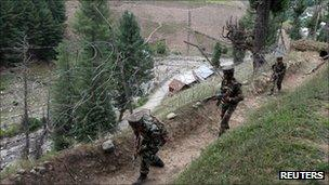 Indian troops on the LoC
