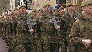 Duke of Lancaster's Regiment on previous march