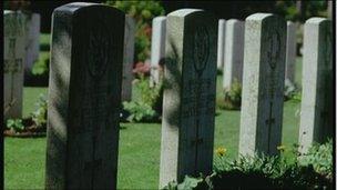 War grave headstones