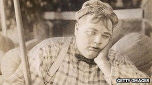 American comedy actor Roscoe 'Fatty' Arbuckle in 1915