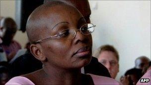 Rwandan opposition leader, Victoire Ingabire in court