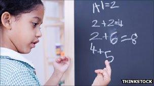 Girl doing sums