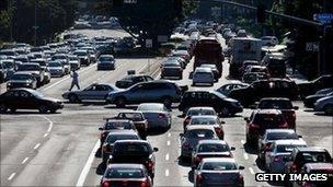 Traffic grinds to a halt in San Diego after a blackout. Photo: 8 September 2011
