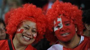 Tongan fans at Eden Park on 9 September 2011