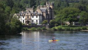Cameron House Hotel on banks of Loch Lomond