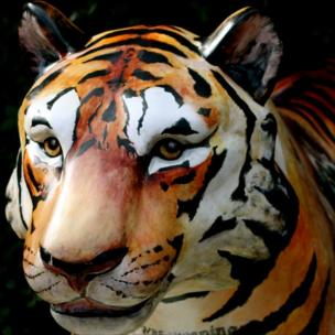 Painted tiger at Royal Botanic Gardens in Edinburgh