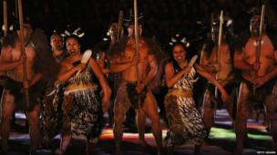 Tens of thousands of people watched the glitzy opening ceremony, which starred loads of Maori dancers.
