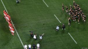 All Blacks perform the Haka