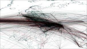 Bin Laden map