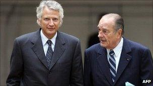 Dominique de Villepin and Jacques Chirac in 2007