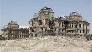 The remains of the Darul-Aman palace