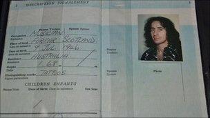Bon Scott's last passport