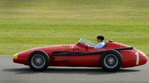 A 1957 Masserati 250F driven by Jackie Stewart