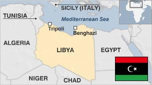 Libya country profile bbc news map of libya with pre gaddafi era flag gumiabroncs Gallery