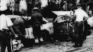 Scene at Sheridan Circle, after the bomb