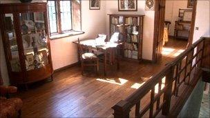 The interior of the house is mostly unchanged