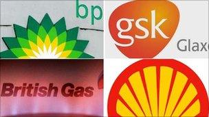 Logos for BP, GSK, British Gas and Shell