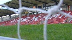 Racecourse ground at Wrexham
