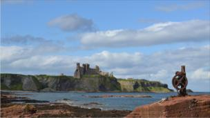 Tantallon Castle near North Berwick