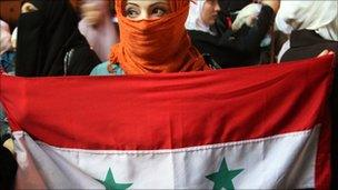 A protester in Jordan, 3 Oct