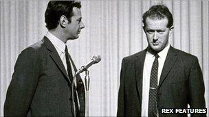 Brian Epstein (left) and Tony Barrow