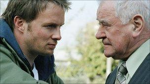 George Baker (right) with Rupert Penry Jones