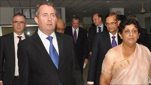 Liam Fox and Adam Werritty in Sri Lanka