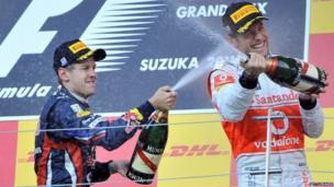 Sebastian Vettel & Jensen Button