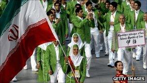 Iranian athletes at the 2008 Beijing Olympic Games
