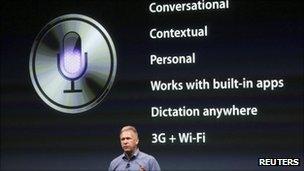 Philip Schiller presenting Apple's iPhone 4S