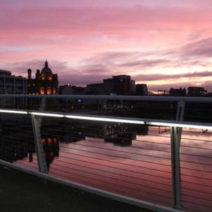 View of Glasgow over the River Clyde