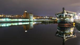 View over Victoria Dock in Dundee