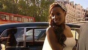 Bride at St Paul's