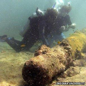 Wreck of Captain Kidd's ship