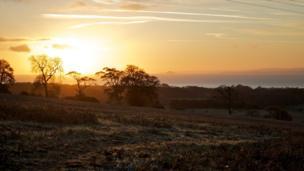 Sunrise over Bonnybank