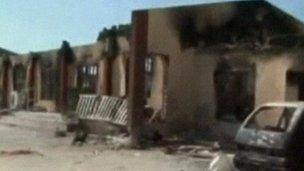 bombed buildings in damaturu