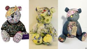 Three of the designer Pudseys, created by (L-R) Liberty, Erdem and Katie Hillier