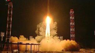 Russian probe launch to Mars