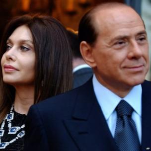 Silvio Berlusconi (right) and his wife Veronica Lario in Rome, 24 June 2004