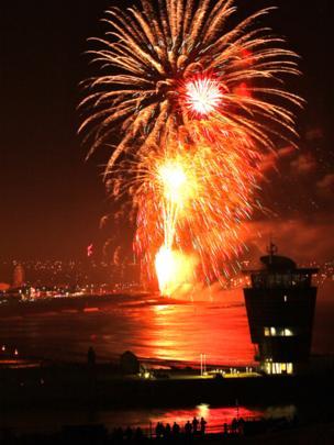 Fireworks over Aberdeen
