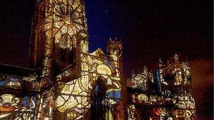 Lumiere Light Festival Illuminates Durham City Bbc News