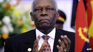 Angola's President Jose Eduardo Dos Santo, photographed in August 2011