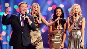 The hosts of Children in Need