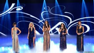 The Saturdays perform at Children in Need