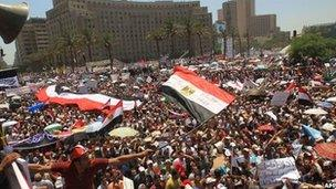 Rally in Tahrir square, 29 July