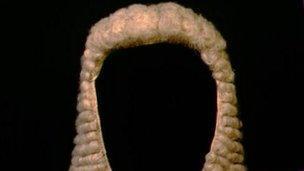 A judge's wig