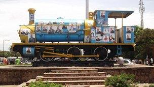 Lubumbashi's first locomotive