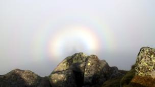 Brocken Spectre on a hillside